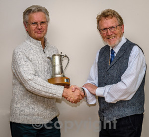 2. Mike Cruise presents the Claret Jug to the Ayr club