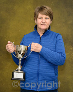 Joyce Robinson with her trophy for best overall image in the 2nd Open competition