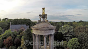 Bill's drone-captured image of a familiar landmark