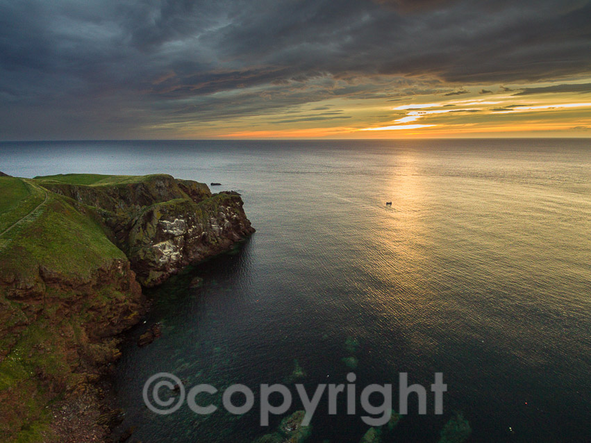 Sunset  over St Abb's Head. Also courtesy of Ian Muir Photography
