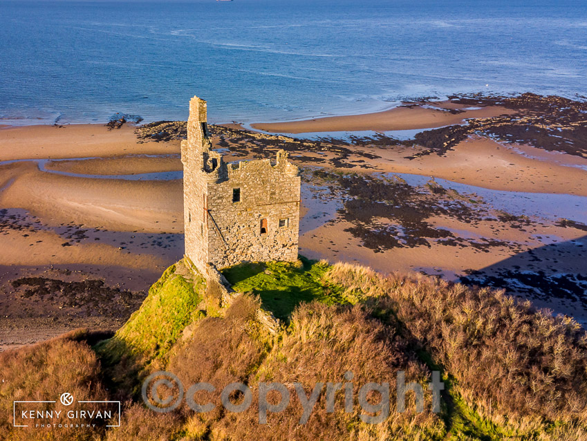 Greenan Castle from the air.  Courtesy of Kenny Girvan Photography